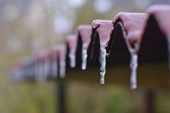 Παγωμένη στέγη Στοκ Εικόνες