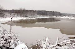 παγωμένη τήξη λιμνών Στοκ Φωτογραφίες
