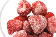 παγωμένη φράουλα στοκ εικόνα με δικαίωμα ελεύθερης χρήσης