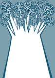Παγωμένη χειμώνας ευχετήρια κάρτα δέντρων απεικόνιση αποθεμάτων
