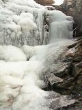 Παγωμένοι καταρράκτες στην ένωση του κρατικού πάρκου βράχου Στοκ Φωτογραφίες