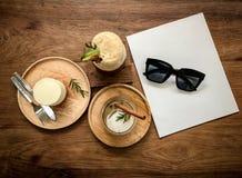 Παγωμένοι καφές και αρτοποιείο Στοκ Εικόνες