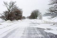 παγωμένος δρόμος Στοκ Εικόνες