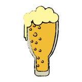 Παγωμένος εορτασμός μπύρας γυαλιού ημέρας Αγίου Πάτρικ κινούμενων σχεδίων Στοκ Φωτογραφίες