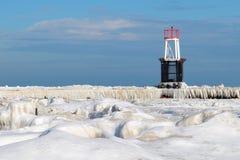 Παγωμένος λιμενοβραχίονας Στοκ φωτογραφία με δικαίωμα ελεύθερης χρήσης