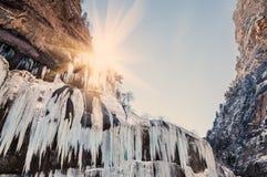 παγωμένος καταρράκτης ηλ&i Στοκ φωτογραφία με δικαίωμα ελεύθερης χρήσης
