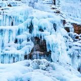 Παγωμένος καταρράκτης πάγου Στοκ εικόνα με δικαίωμα ελεύθερης χρήσης