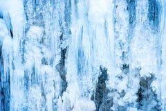Παγωμένος καταρράκτης πάγου Στοκ φωτογραφία με δικαίωμα ελεύθερης χρήσης