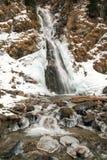 Παγωμένος καταρράκτης στην κοιλάδα Leventina Στοκ Φωτογραφίες