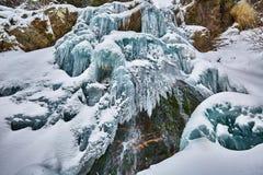 Παγωμένος καταρράκτης το χειμώνα Στοκ φωτογραφία με δικαίωμα ελεύθερης χρήσης
