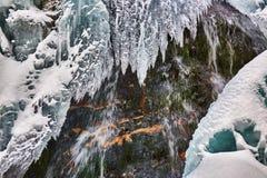 Παγωμένος καταρράκτης το χειμώνα Στοκ Φωτογραφία