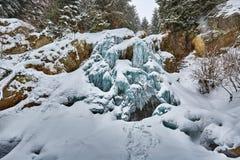 Παγωμένος καταρράκτης το χειμώνα Στοκ Εικόνα