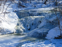 Παγωμένος καταρράκτης Στοκ Εικόνα