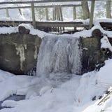 παγωμένος καταρράκτης Στοκ Φωτογραφίες