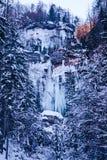 Παγωμένος καταρράκτης Pericnik Στοκ φωτογραφίες με δικαίωμα ελεύθερης χρήσης