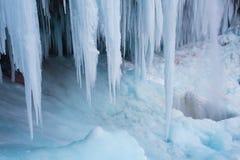 Παγωμένος καταρράκτης Pericnik Στοκ φωτογραφία με δικαίωμα ελεύθερης χρήσης