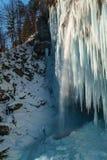 Παγωμένος καταρράκτης Pericnik Στοκ Εικόνα