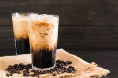 Παγωμένος καφές με το γάλα στοκ φωτογραφίες με δικαίωμα ελεύθερης χρήσης