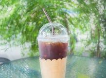 Παγωμένος καφές στο πλαστικό γυαλί Στοκ φωτογραφία με δικαίωμα ελεύθερης χρήσης