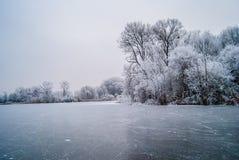 Παγωμένος κόσμος, δύναμη της φύσης Στοκ Φωτογραφίες