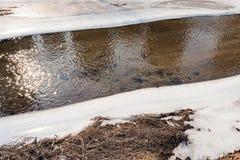 παγωμένος μισός ποταμός στοκ φωτογραφία με δικαίωμα ελεύθερης χρήσης