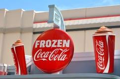 Παγωμένος πίνακας διαφημίσεων της Coca-Cola Στοκ φωτογραφία με δικαίωμα ελεύθερης χρήσης