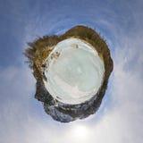 Παγωμένος ποταμός βουνών Στοκ Εικόνες