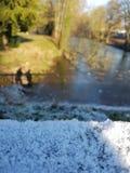 Παγωμένος ποταμός του Ρουρ Στοκ φωτογραφία με δικαίωμα ελεύθερης χρήσης