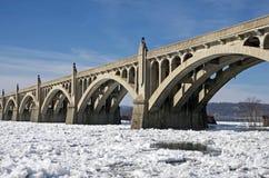 παγωμένος ποταμός στοκ εικόνα