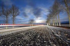 παγωμένος δρόμος Στοκ Φωτογραφία