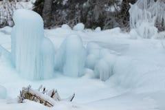 Παγωμένος σωρός του χιονιού Στοκ Φωτογραφία