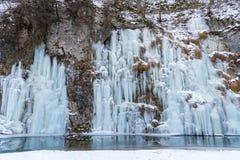 Παγωμένος τοίχος Στοκ Φωτογραφίες
