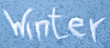 παγωμένος χειμώνας γυαλ&i στοκ εικόνα