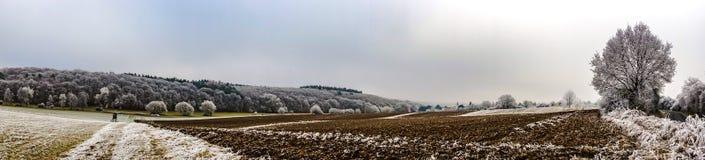 παγωμένος χειμώνας τοπίων Στοκ Εικόνες