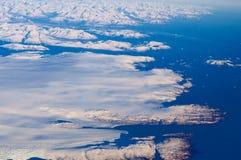 Παγωμένο έδαφος της Γροιλανδίας από το αεροπλάνο Στοκ φωτογραφίες με δικαίωμα ελεύθερης χρήσης