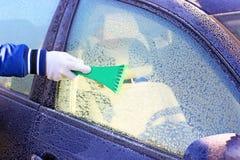 παγωμένο αυτοκίνητο παράθ Στοκ Εικόνες