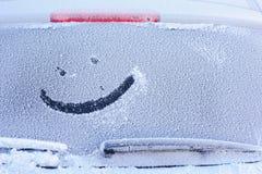 παγωμένο αυτοκίνητο παράθ Στοκ Φωτογραφία