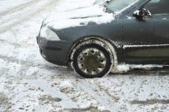 Παγωμένο αυτοκίνητο που σταθμεύουν Στοκ Εικόνα
