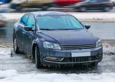 Παγωμένο αυτοκίνητο το χειμώνα Στοκ φωτογραφίες με δικαίωμα ελεύθερης χρήσης