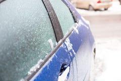 Παγωμένο αυτοκίνητο το χειμώνα Στοκ Φωτογραφίες