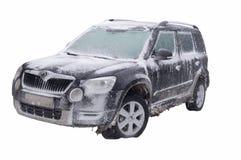 Παγωμένο αυτοκίνητο. Στοκ Εικόνες