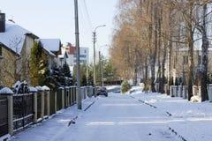 Παγωμένο βόρειο σύγχρονο χωριό Στοκ φωτογραφίες με δικαίωμα ελεύθερης χρήσης