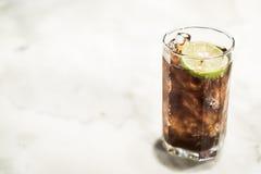 Παγωμένο γυαλί κοκ Στοκ Φωτογραφίες