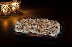 Παγωμένο κέικ αμυγδάλων Στοκ φωτογραφία με δικαίωμα ελεύθερης χρήσης