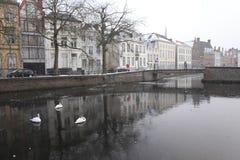 Παγωμένο κανάλι Στοκ φωτογραφίες με δικαίωμα ελεύθερης χρήσης