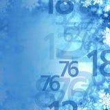 Παγωμένο κομψό υπόβαθρο αριθμών χειμερινής πώλησης Χριστουγέννων Στοκ Εικόνα