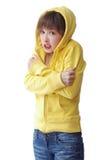 παγωμένο κορίτσι Στοκ φωτογραφία με δικαίωμα ελεύθερης χρήσης