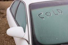 Παγωμένο κρύο αυτοκίνητο Στοκ Εικόνα