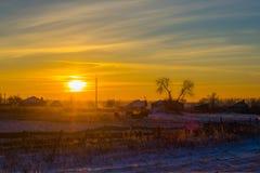 Παγωμένο κρύο χωριό Στοκ φωτογραφία με δικαίωμα ελεύθερης χρήσης