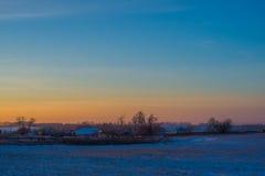 Παγωμένο κρύο χωριό Στοκ Φωτογραφία